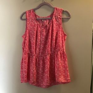 NWT Banana Republic | Pink Pattern Blouse, M